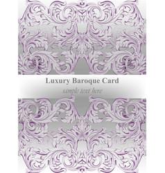 Luxury invitation card royal victorian vector