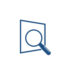 magnifying glass searching logo icon graphic vector image