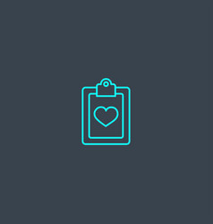 medical services concept blue line icon simple vector image