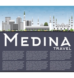 Medina Skyline with Gray Buildings vector