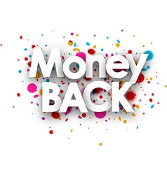 Money back paper card vector image