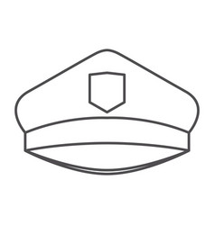 monochrome silhouette of police cap vector image