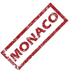 New monaco rubber stamp vector