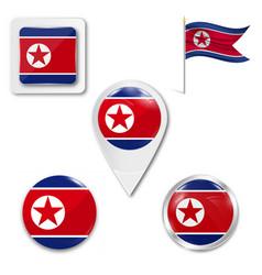 North korean scratched flag a korean flag vector