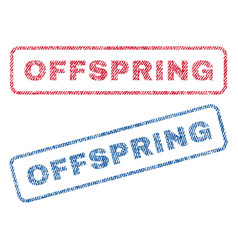 Offspring textile stamps vector