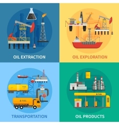 Oil Petrol Industry 2x2 Images vector