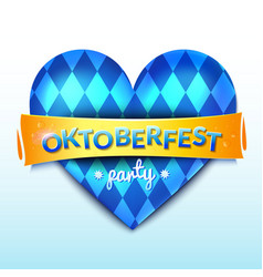 Oktoberfest decor blue heart vector