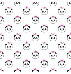 panda with bamboo vector image