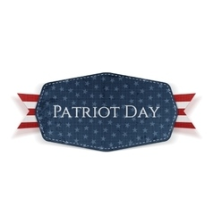 Patriot Day Text on Banner with Ribbon vector