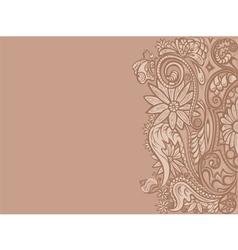 Pattern flower card vector