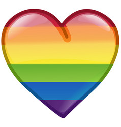 pride heart icon vector image