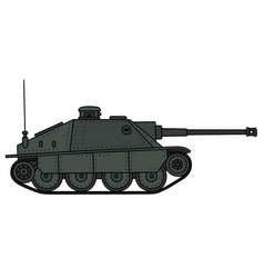 Retro tank destroyer vector