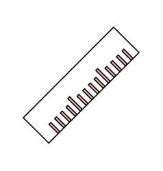 Ruler tool isolated vector