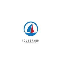 sail logo vector image