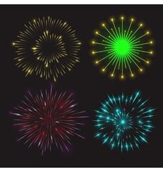 Set festive fireworks vector