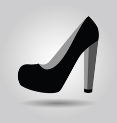 Single women black platform high heel shoe icon vector