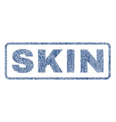 Skin textile stamp vector