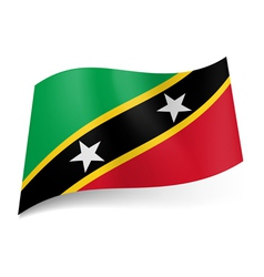 State flag saint kitts and nevis vector