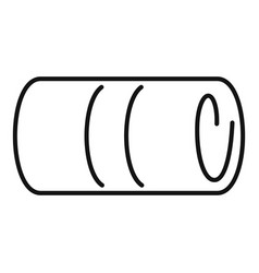 Towel roll icon outline style vector