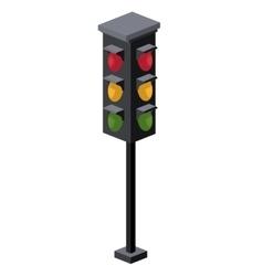 Traffic light isometric icon vector