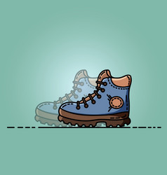 trekking shoes flat vector image