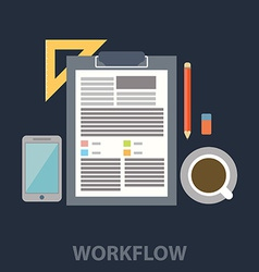 Work flow vector