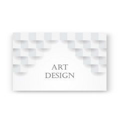 Abstract white background with brick shadow vector
