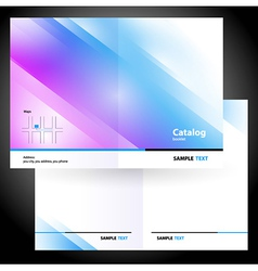 booklet folder brochure colorful design gradient vector image vector image