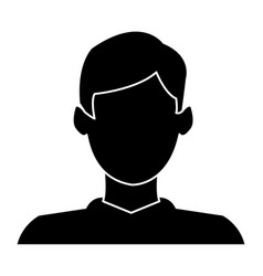 character man male profile avatar image vector image