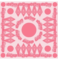 Decorative Pink Pattern Card vector image