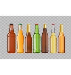 Digital beer mockup set vector image vector image
