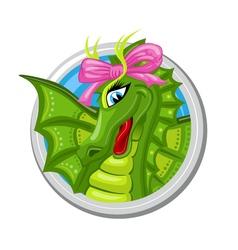 Dragon virgo zodiac sign vector