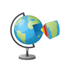 earth cutaway isolated cartoon style vector image
