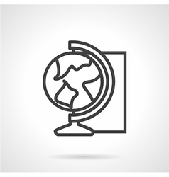 Globe simple line icon vector image vector image