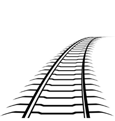 Abstract railway line vector image vector image