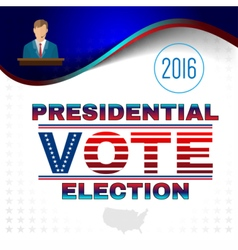 Digital usa election with candidate vector image