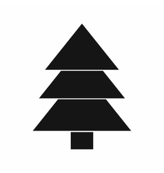 Fir tree icon black simple style vector image