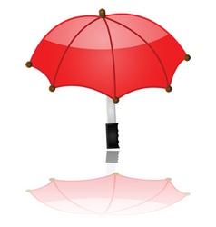 glossy umbrella vector image vector image