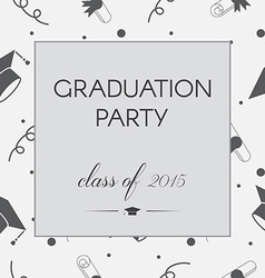 Graduation Invitation vector image