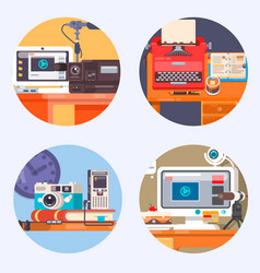 media gadget electronics technology concept icon vector image vector image