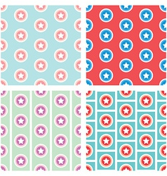Star in circle seamless pattern background vector