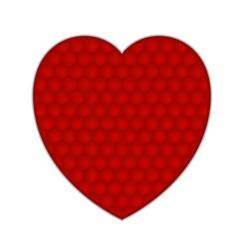 Textured Heart vector image vector image