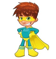 Young superhero vector