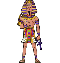 ancient egyptian pharaoh vector image vector image