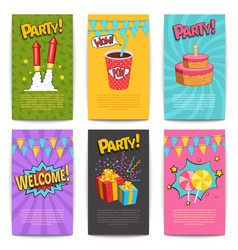 carnival comic posters vector image vector image
