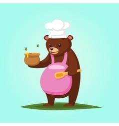 Cute cartoon Bear with Honey vector image vector image