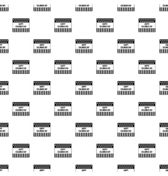 Happy Columbus day banner pattern simple style vector image