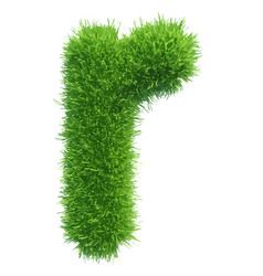 small grass letter r on white background vector image vector image
