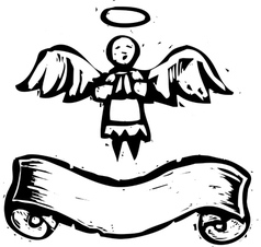 Tiny Angel Banner vector image vector image