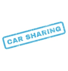 Car sharing rubber stamp vector